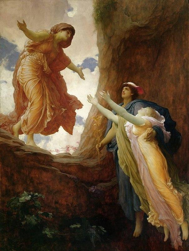 A volta de Perséfone, de 1891, de Frederic Leighton.