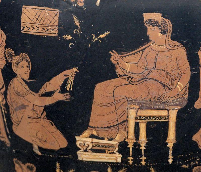 Deméter e Metanira, cerca de 340 a.C.