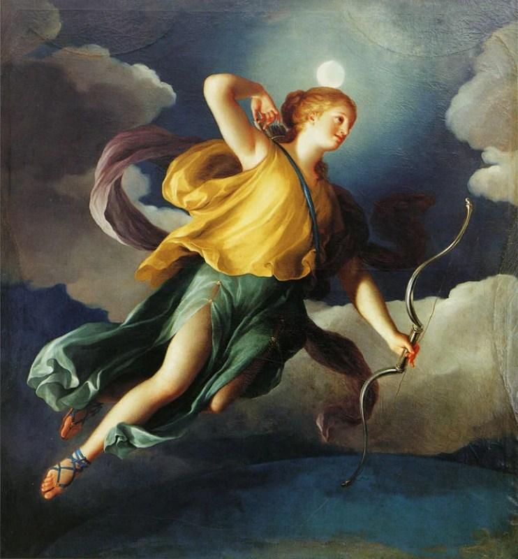 Diana (Ártemis) como personificação da noite, cerca de 1765.