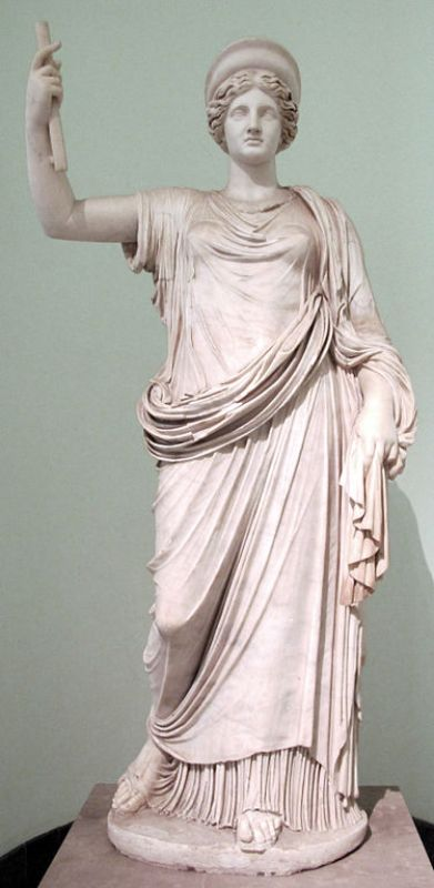 Estátua da deusa grega Hera, cópia romana de cerca de 100-150 d.C.