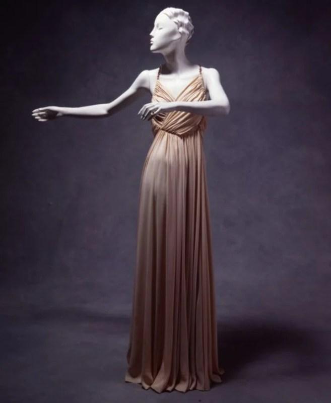 Vestido de noite de Madeleine Vionnet, c.1930.