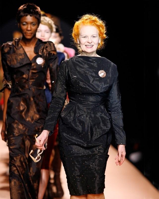 Vivienne Westwood em um desfile.