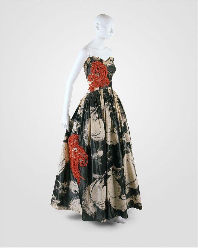 """Vestido de seda de Jeanne Lanvin """"Fusée"""",1938."""