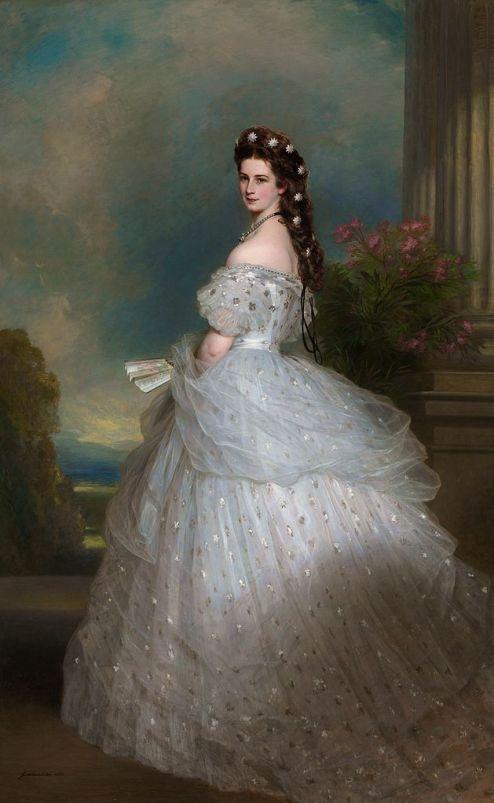 Pintura de princesa Isabel da Austria, a princesa Sissi.