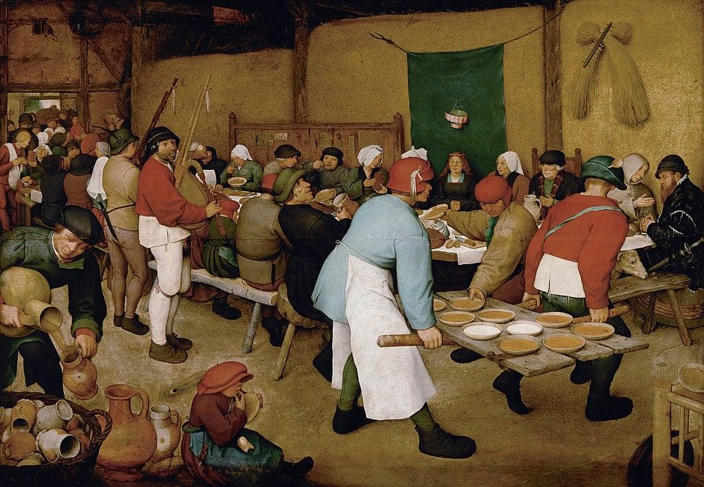 O casamento camponês, 1566-69.