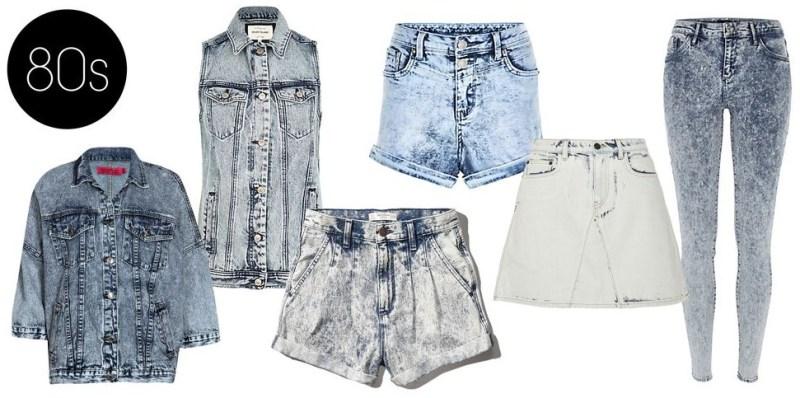 Modelos e Lavagens de Jeans na década de 80.