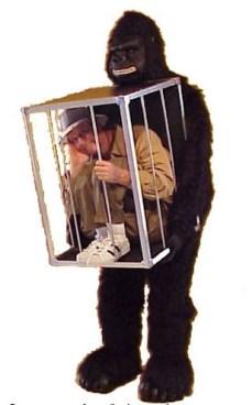 homem na jaula