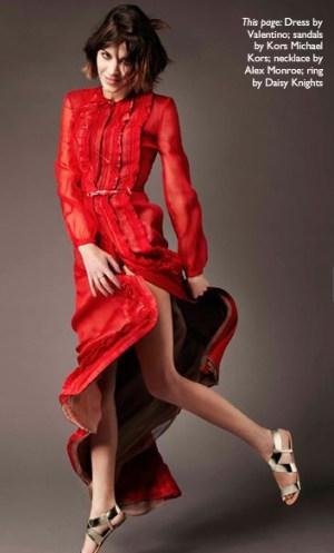 Vestido vermelho manga longa fall 2011