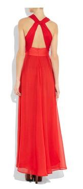 costas vestido vermelho