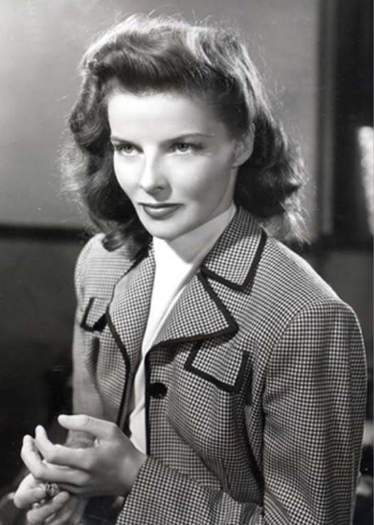 Retrato de Katharine Hepburn em 1942, no filme ´Woman of the Year.`