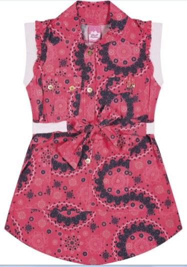 vestido rosa flores