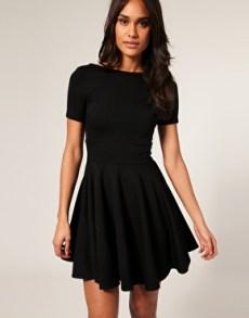 vestidos curtos pretos 46