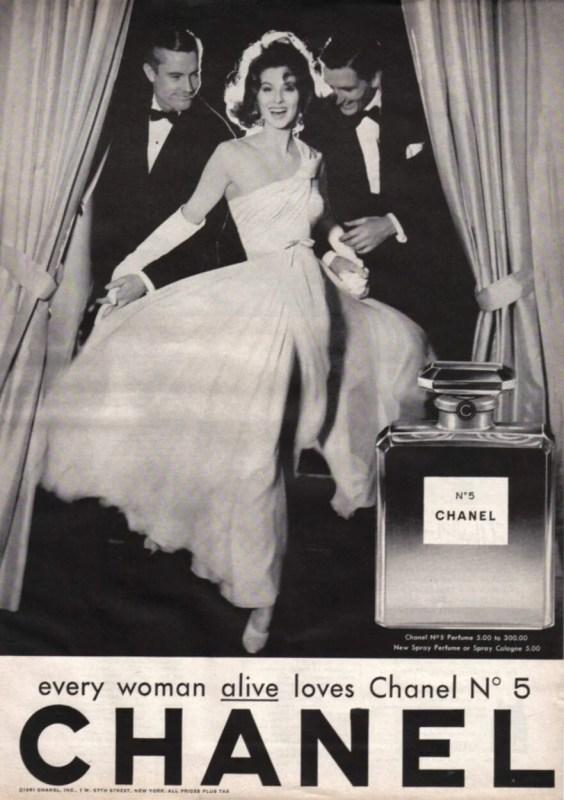 Anúncio vintage do perfume Chanel n5