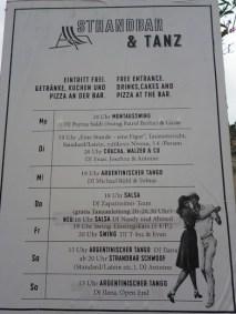 Strandbar cartaz com programação