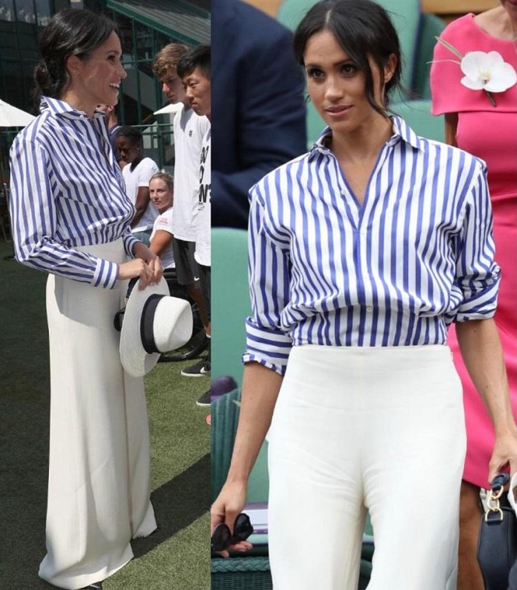 Meghan Markle usando Wide Legs