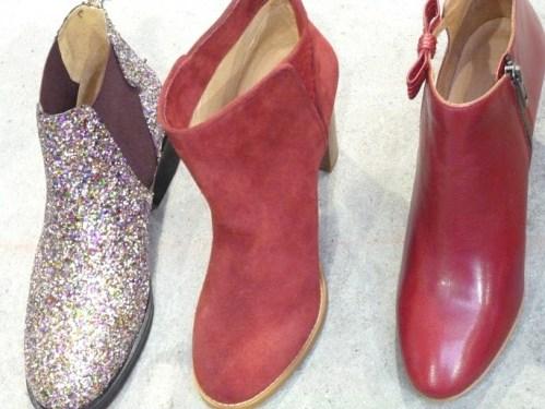 Glitter em botas de cano curto
