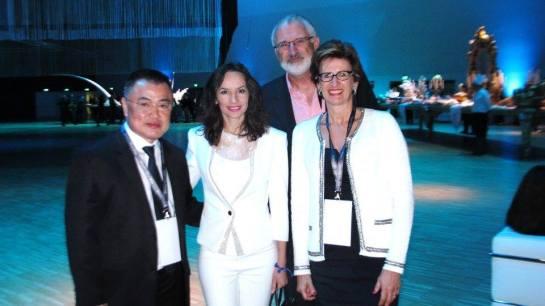 Denise Pitta e empresários do setor de ótica do Brasil