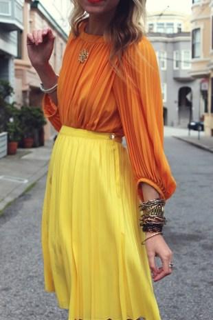 Cores Análogas: Laranja + Amarelo