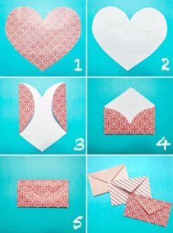 Como fazer um envelope em formato de coração
