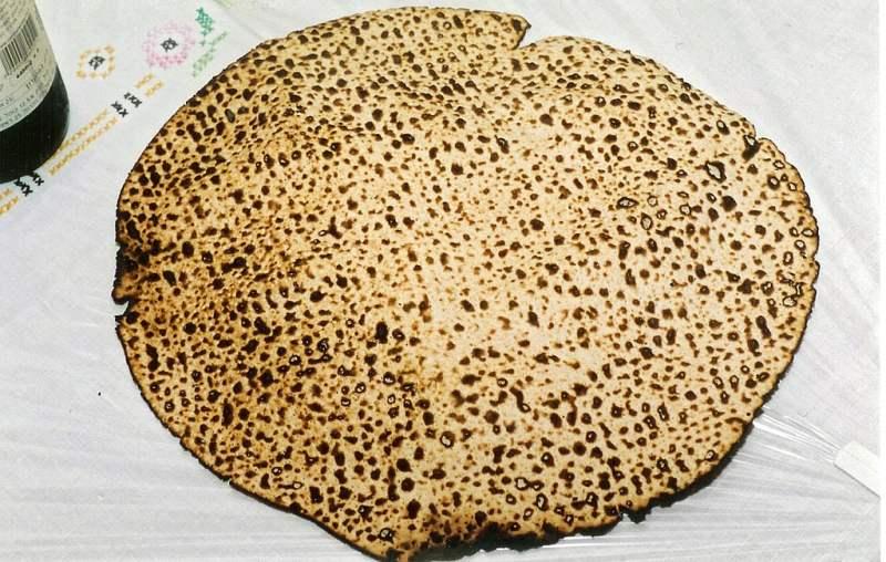O pão sem fermento Matzá.