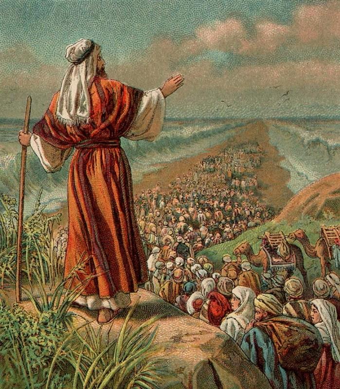 Ilustração da fuga do Egito, de 1907.