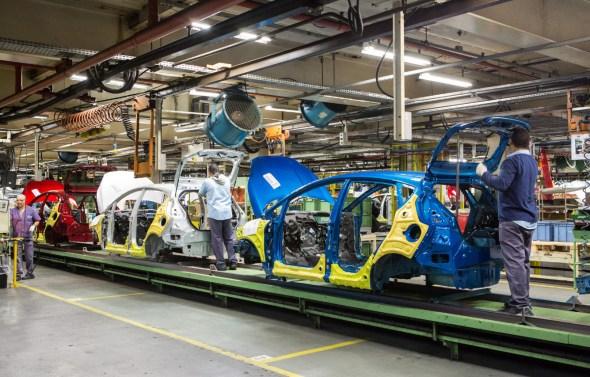 Fotos da fábrica da Ford - são Bernardo do Campo - Linha de montagem ford New Fiesta