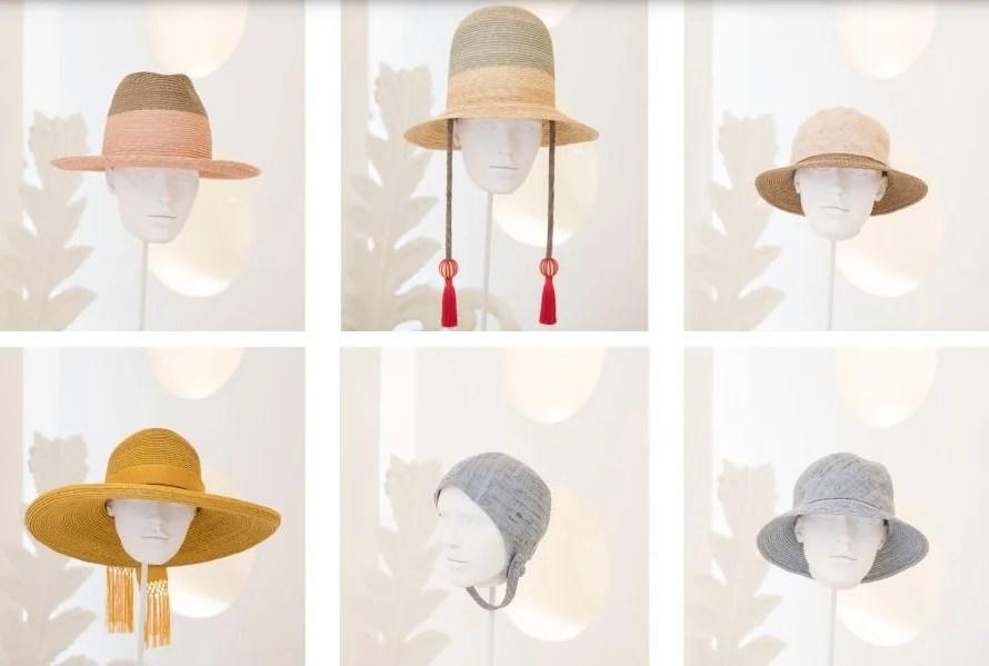 Modelos de chapéu da coleção verão de Fiona Bennett