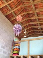 Luminárias de material reciclado