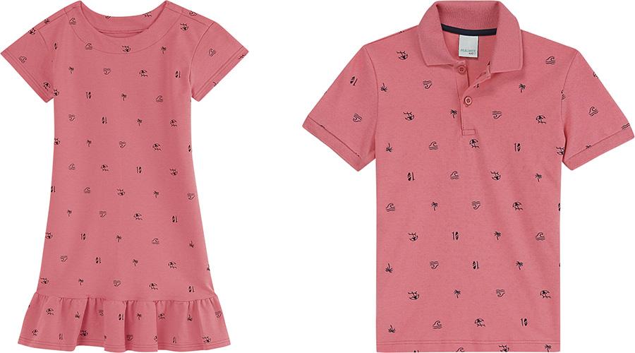 Blusa masculina que combina com vestido de criança