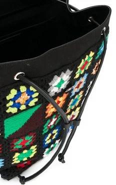 Detalhe mochila de croche - JW Anderson