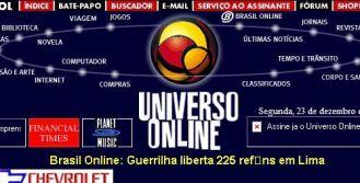 O site do UOL, em dezembro de 1996