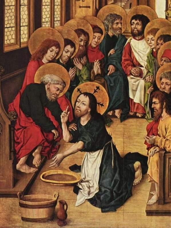 Pintura representa o Lava-pés, c. 1480.