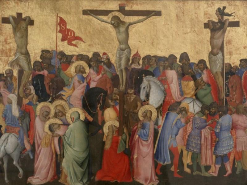 """Quadro """"Cruxificação"""" de Agnolo Gaddi, c. 1390."""