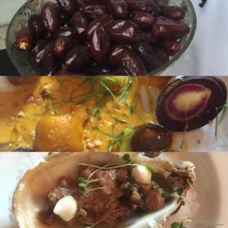 O menu realizado com tâmaras 1