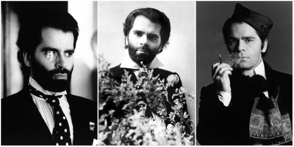 fotos de Karl Lagerfeld jovem