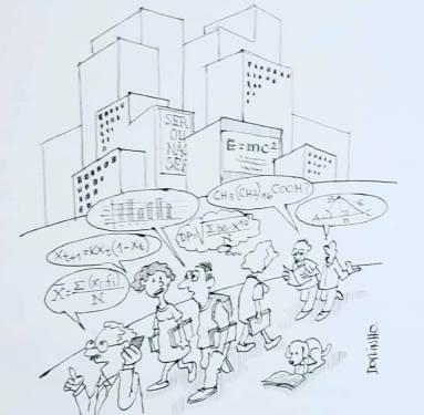 """exposição de cartoons """"Construindo a cidade MIL"""" do prof. Dorinho Bastos do CEACOM da ECA-USP 97"""