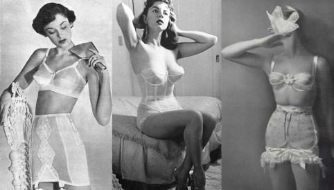 lingerie-50 - História da moda dos anos 50