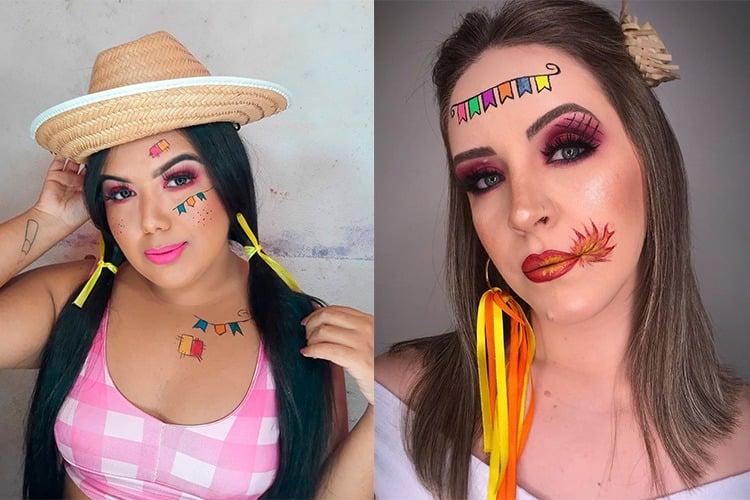 Maquiagem junina: desenhos típicos no rosto
