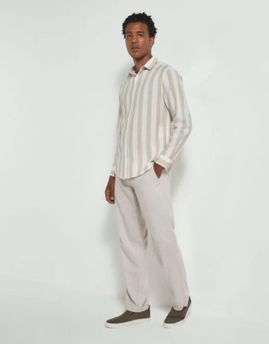 Camisa de linho com calça