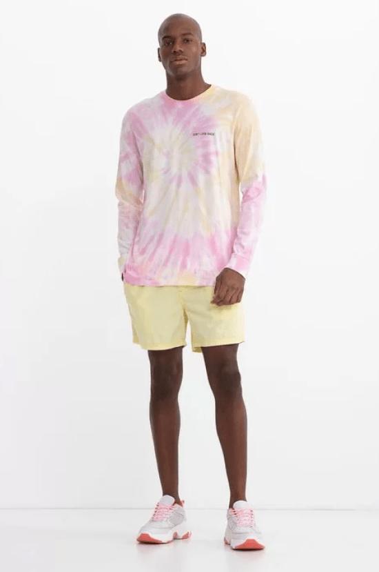 Blusa tie-dye manga comprida