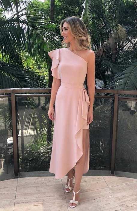 vestido midi de festa