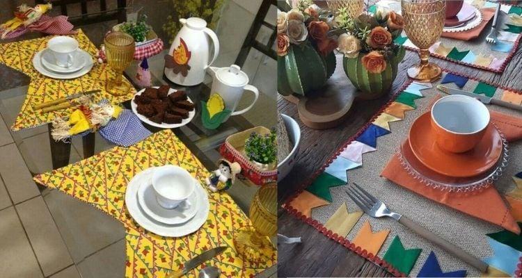 mesa posta para festa junina