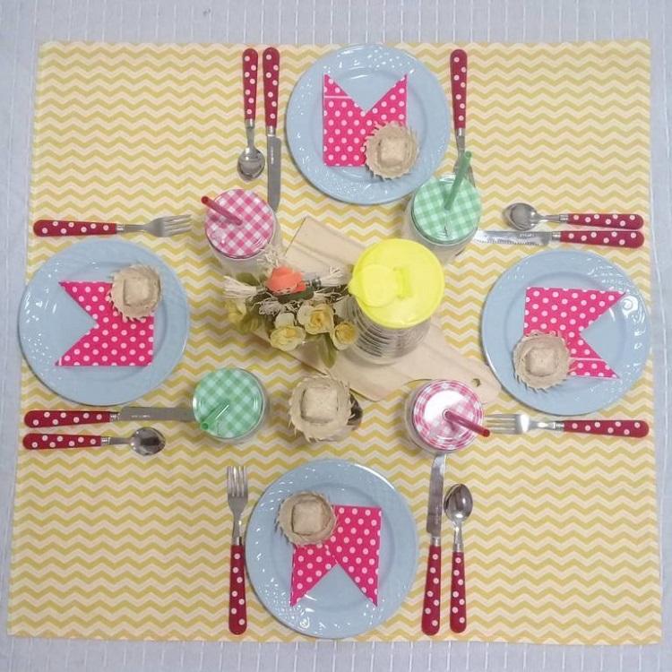 mesa posta de festa junina