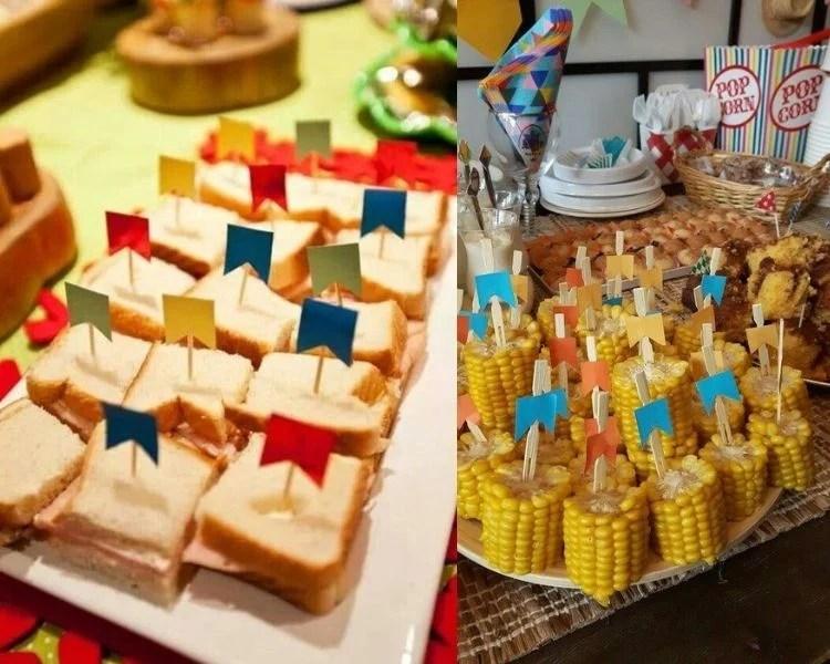 comida salgada de festa junina