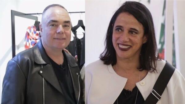 foto de Reinaldo Lourenço e sua ex-esposa, Glória Coelho