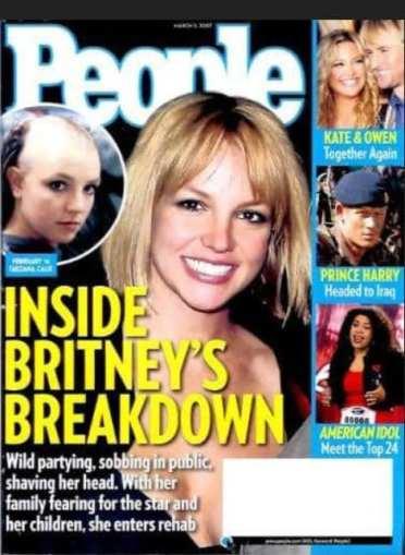 Capas de revistas exploram o drama pessoal de Britney