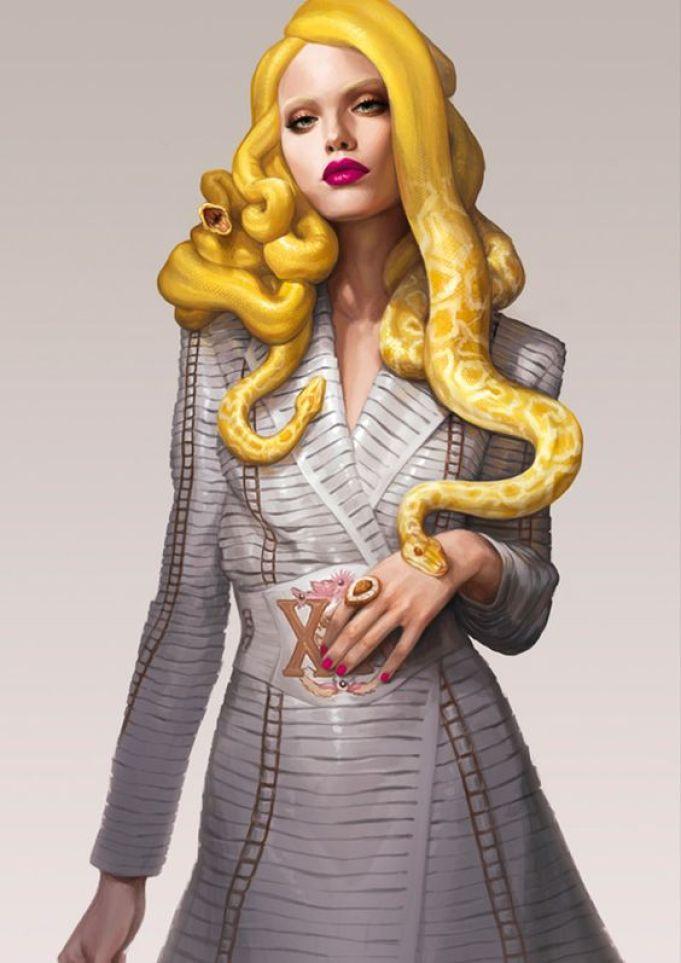 Ilustração de Medusa Fashion - Medusa da moda