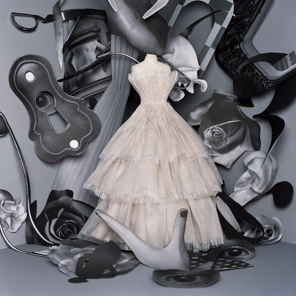 Vestido de festa Dior maravilhoso trabalhado em camadas