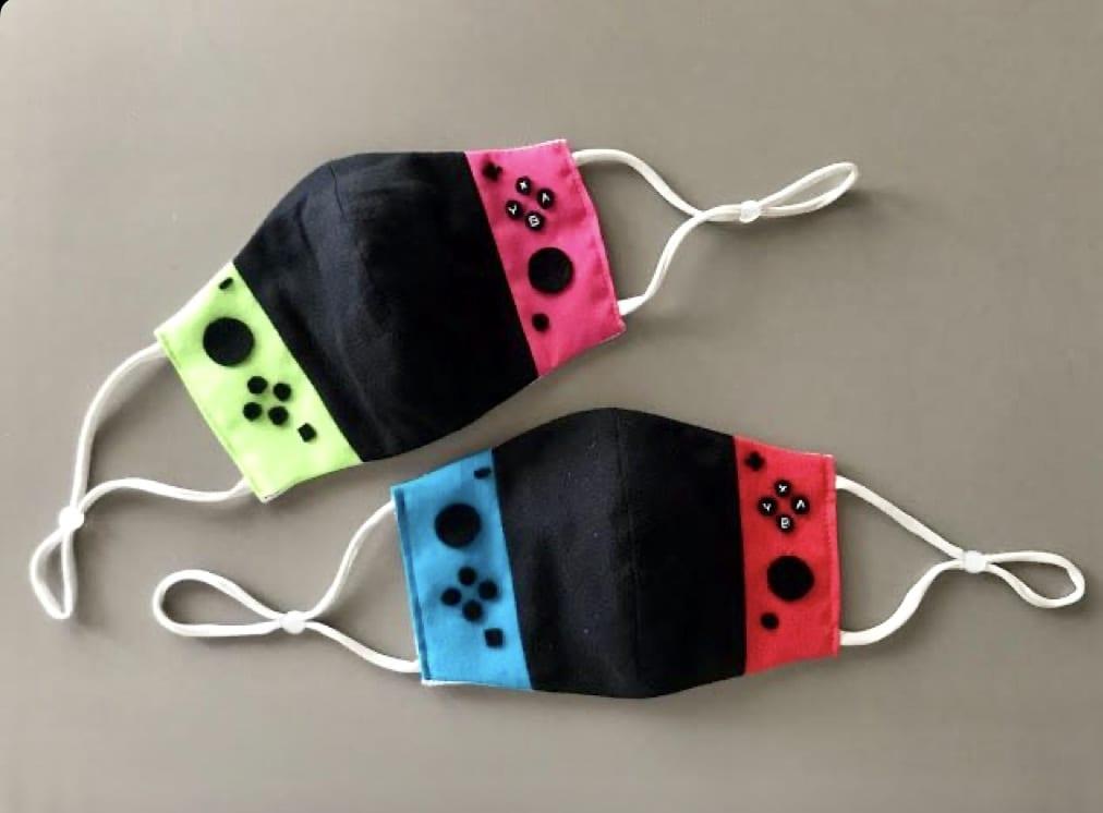 máscara controle de vídeo game