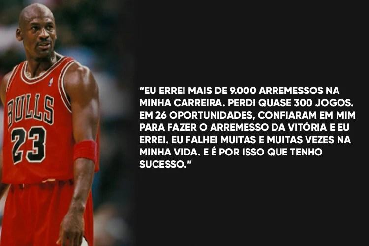 Imagem de Michael Jordan com a frase: